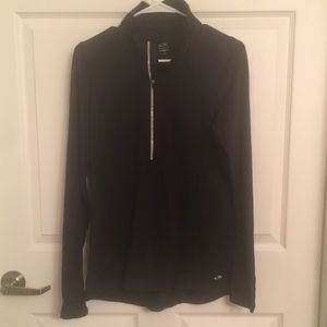 Champion Tops - Black 3/4 zip women's pullover - Medium